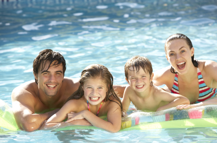 Family Fun in a Pool